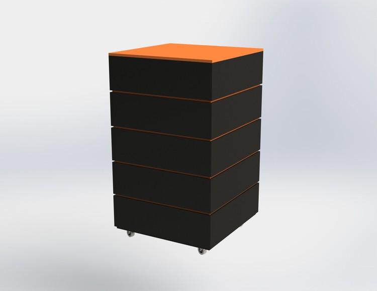 Skyltpodie SUCCE - stapelbart - Svart - Orange
