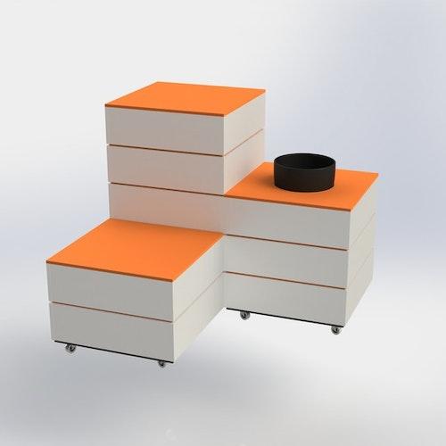 M60 - Skyltpodie SUCCE - paket - Vit-Orange