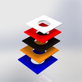 Skyltpodie SUCCE - Topplatta runt hål