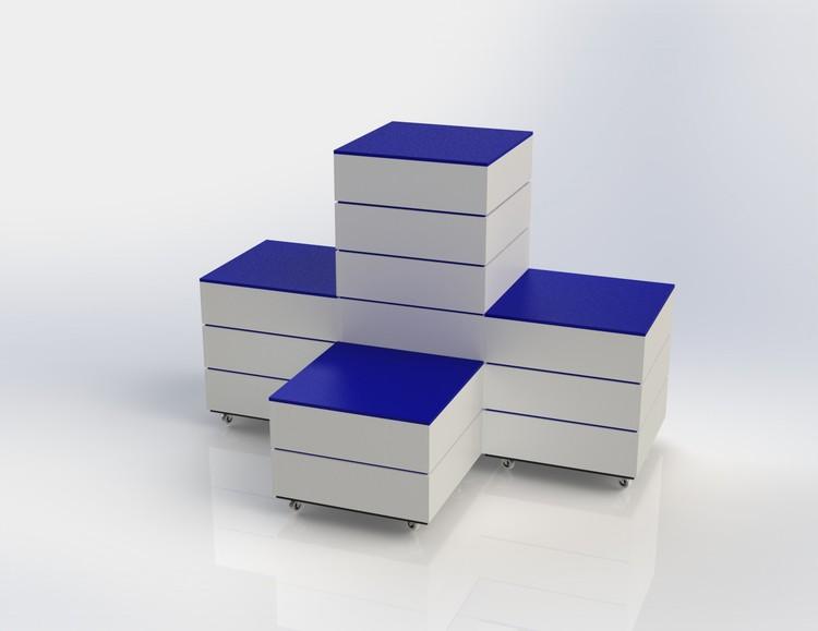 L60 - Skyltpodie SUCCE - paket - Vit-Blå
