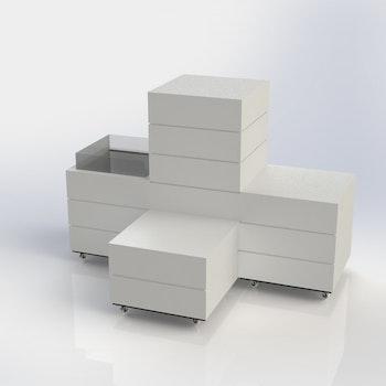 L60 - Skyltpodie SUCCE - paket - Vit-Vit