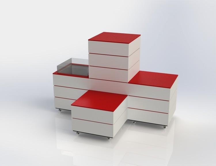 L60 - Skyltpodie SUCCE - paket - Vit-Röd