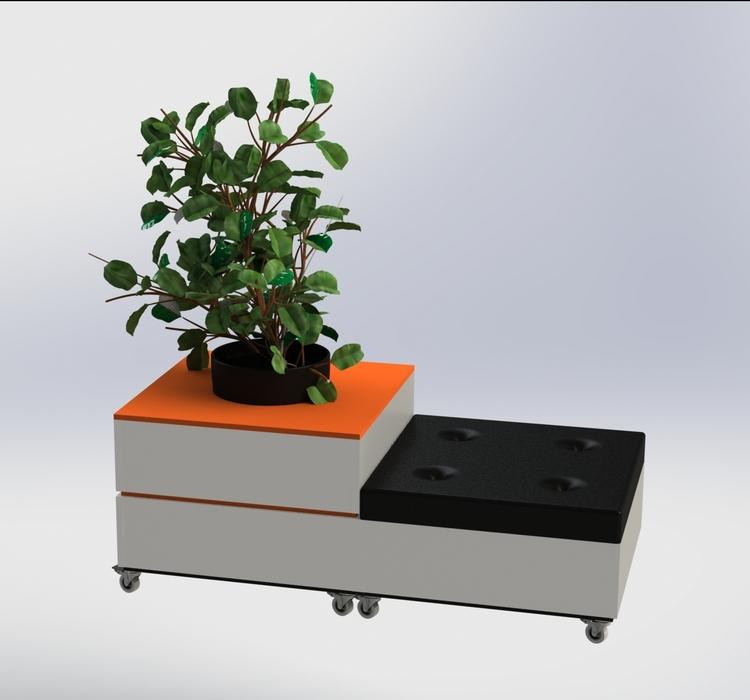 Vit-Orange-Svart