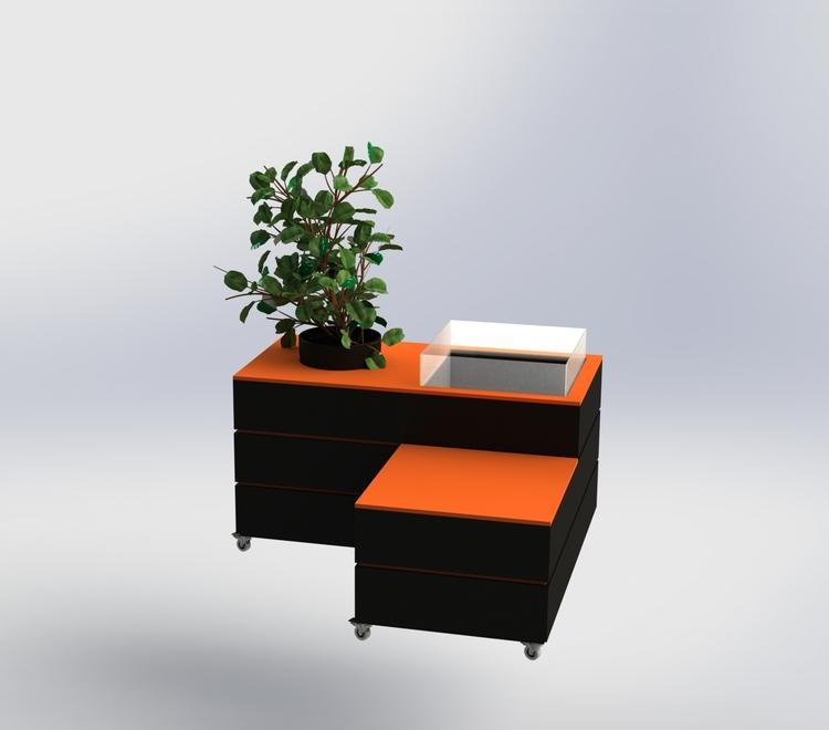 Svart-Orange