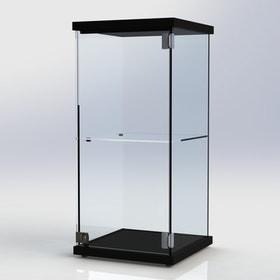 Glasmonter SUCCE 40 - Svart - 3 cm topp med belysning