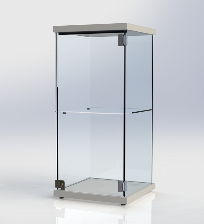 Glasmonter SUCCE 40 - vit - 3 cm topp med belysning