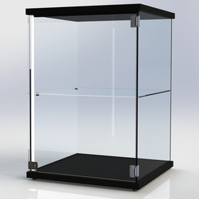 Glasmonter SUCCE 60 - Svart - 3 cm topp med belysning