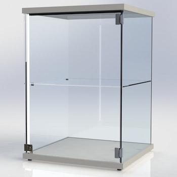 Glasmonter SUCCE 60 - vit - 3 cm topp med belysning