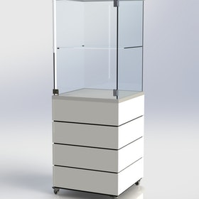 Glasmonter SUCCE 60 - Komplett - vit-vit-svart - 3 cm top