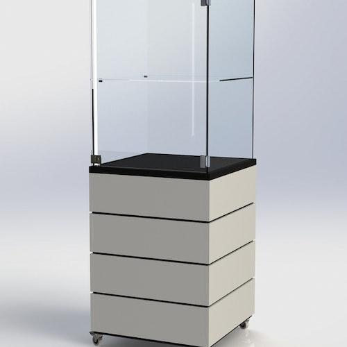 Glasmonter SUCCE 60 - Komplett - svart-vit-svart - 3 cm top
