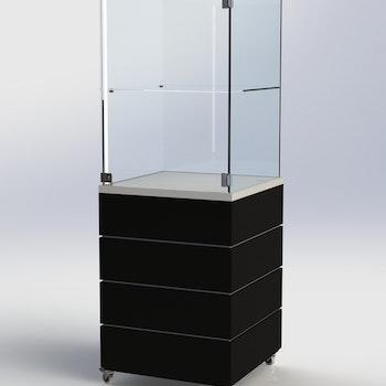 Glasmonter SUCCE 60 - Komplett - vit-svart-vit - 3 cm top