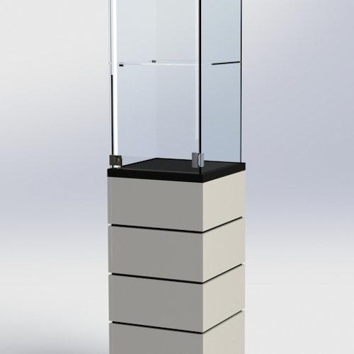 Glasmonter SUCCE 40 - Komplett - svart-vit-svart - 3 cm top