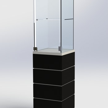 Glasmonter SUCCE 40 - Komplett - vit-svart-vit - 3 cm top