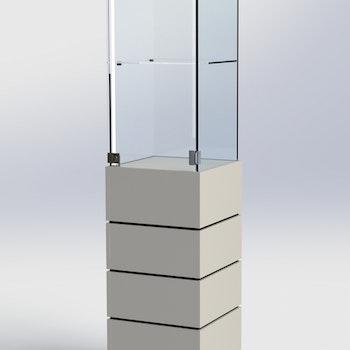 Glasmonter SUCCE 40 - Komplett - vit-vit-svart - 3 cm top