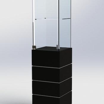 Glasmonter SUCCE 40 - Komplett - svart-svart-vit - 3 cm top