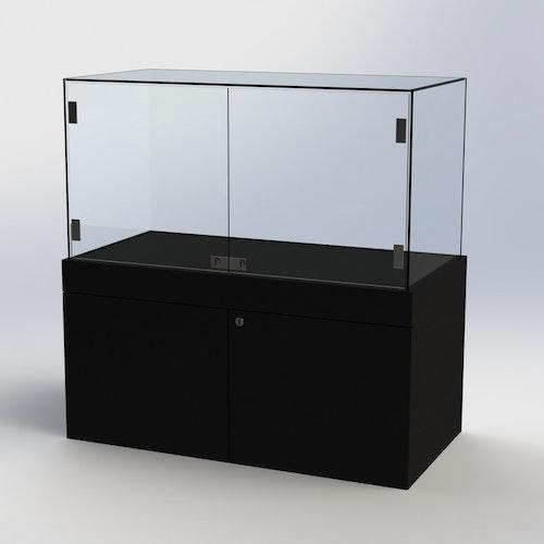 Glasvitrin BAS Förvaring 50*100*102 cm med glastopp