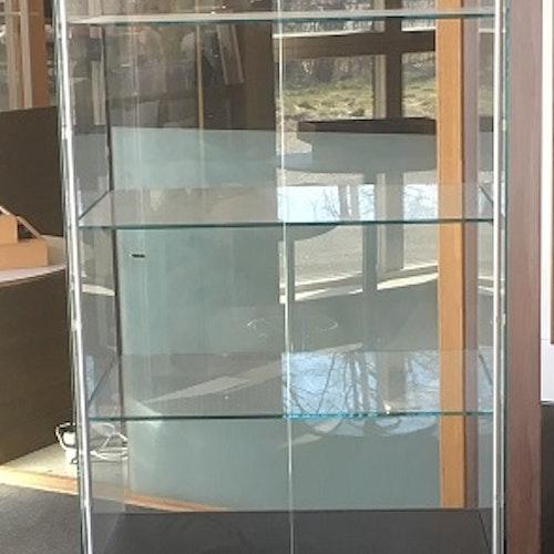 Glasvitrin med förvaring 60 x 80 x 210 cm