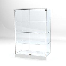 Glasvitrin BAS 60*120*180 cm med 3 cm topp