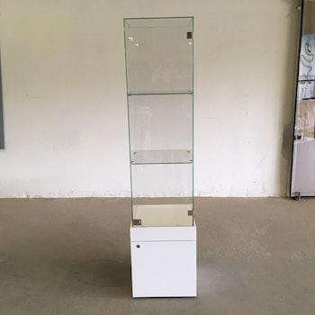 Glasvitrin med förvaring 40x40x172cm