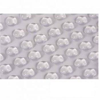 Gummidistans för glashylla