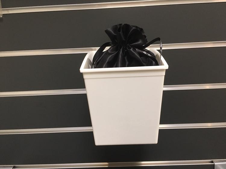 Plastbox för spårpanel Vit  D16,5xB14,5xH17,5 cm