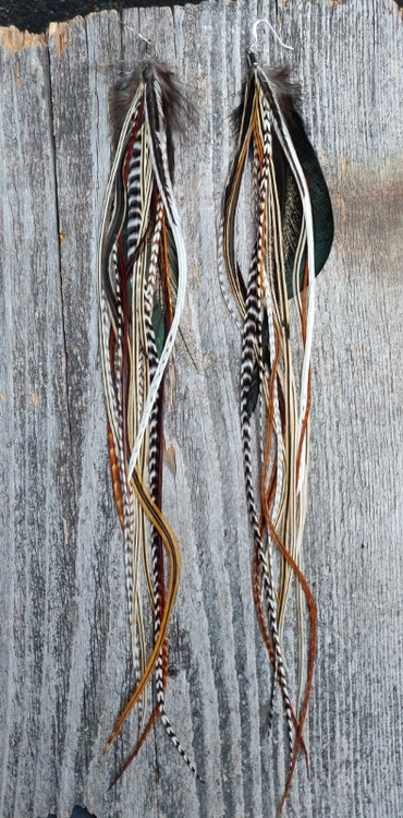 XXLong Feather Earrings Pair #2020