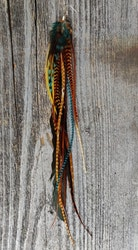 Extra Långt Fjäderörhänge #2093