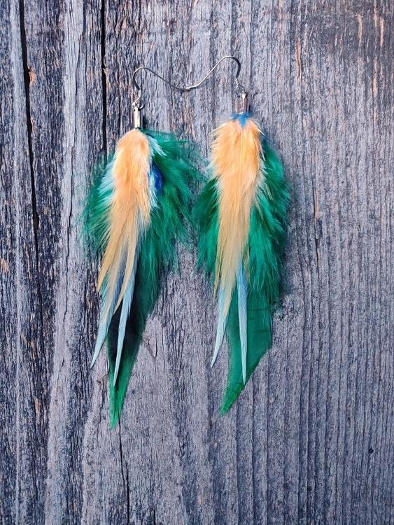 Fjäderörhängen Par #2091