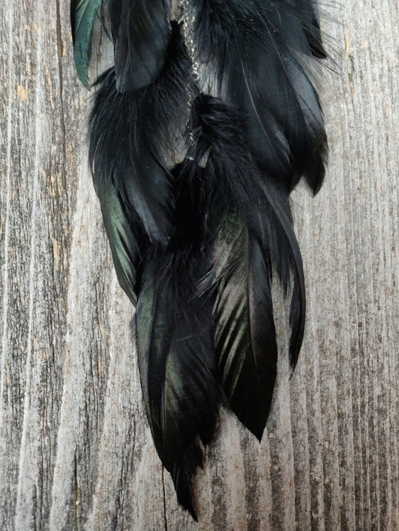 Kedjeörhänge med Fjädrar #2038