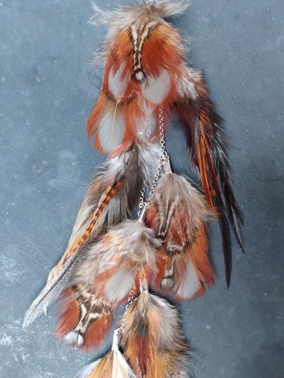 Kedjeörhänge med Fjädrar #2086