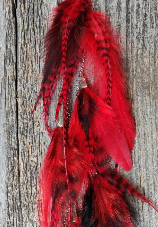 Kedjeörhänge med Fjädrar #2128