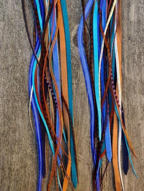 Läder och Fjäderörhängen #2087