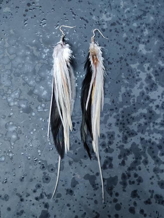 Feather Earrings Pair #2096