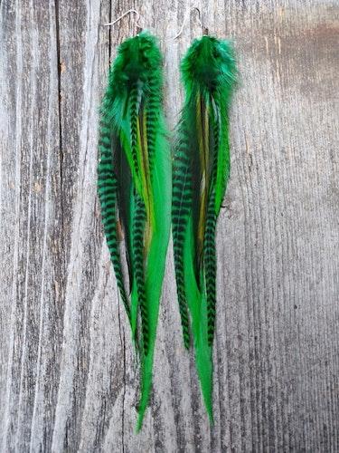 Long Single Feather Earring #2099