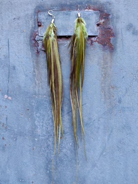 Long Pair of Feather Earrings #2101