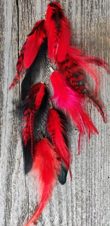 Kedjeörhänge med Fjädrar #2120