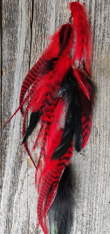 Kedjeörhänge med Fjädrar #2131