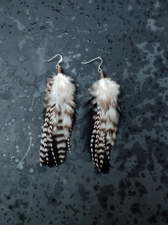 Fjäderörhängen Par #2036