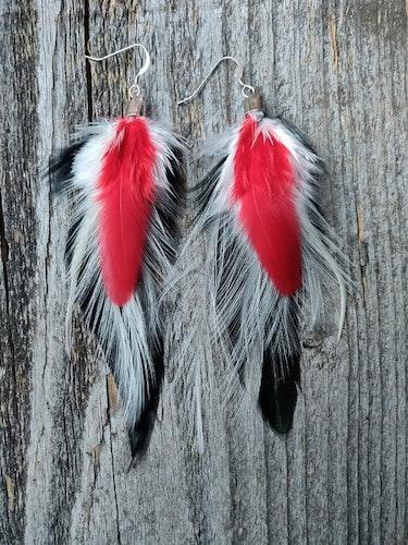 Fjäderörhängen Par #2037