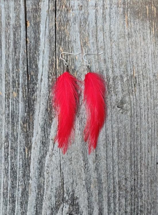 Fjäderörhängen Par #2048