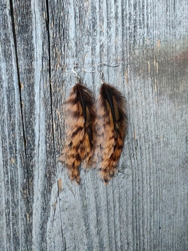 Fjäderörhängen Par #2054