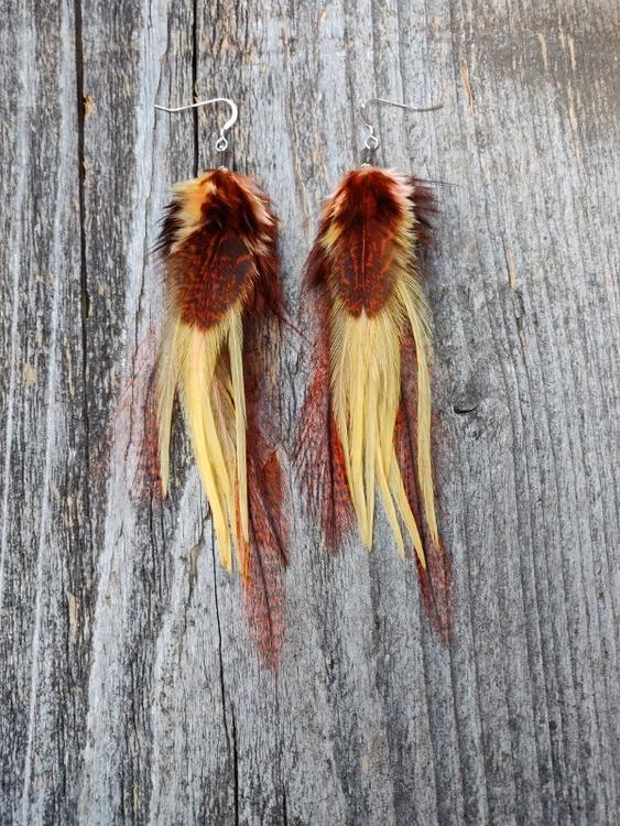 Fjäderörhängen Par #2066