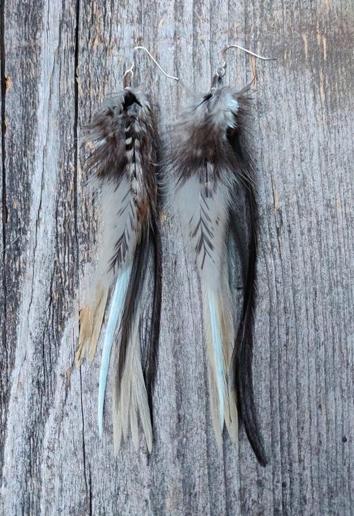 Fjäderörhängen Par #2067