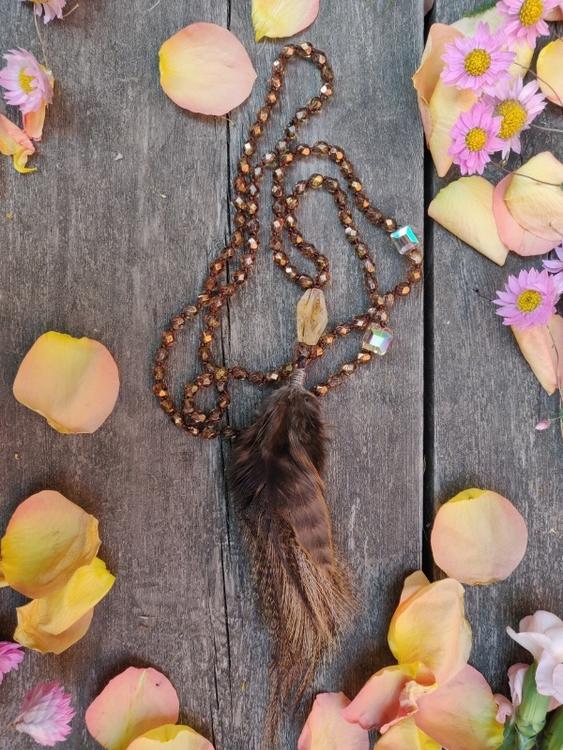 Halsband med Citrin
