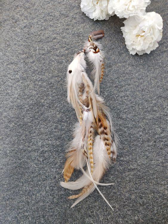 Långt Fjäderhårspänne