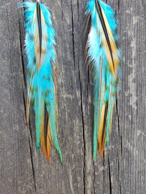 Fjäderörhängen #2444
