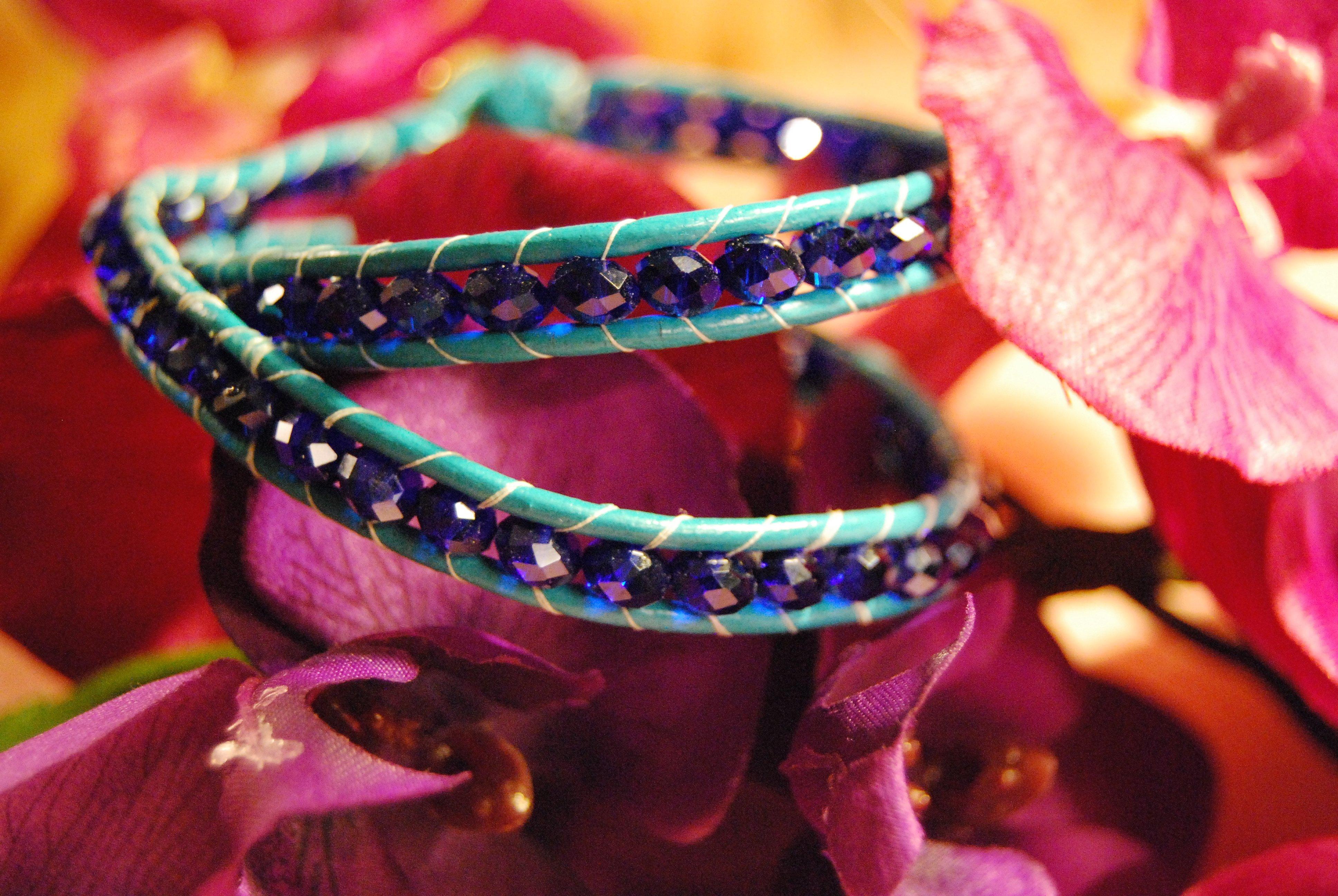 Blue tang Wrap Bracelet