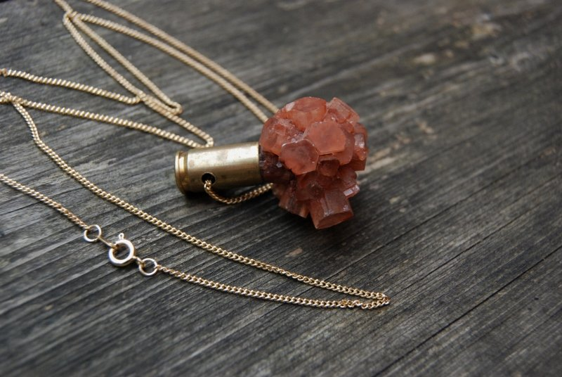 Crystal bullet Aragonite
