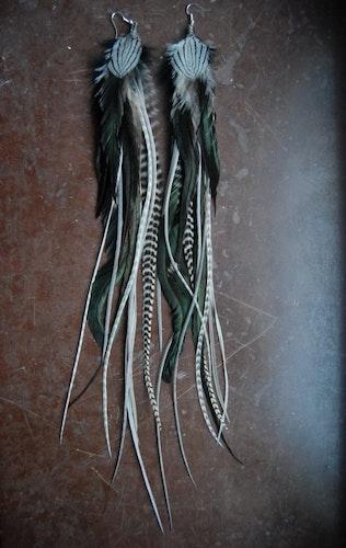 Mr Grey Feather earrings