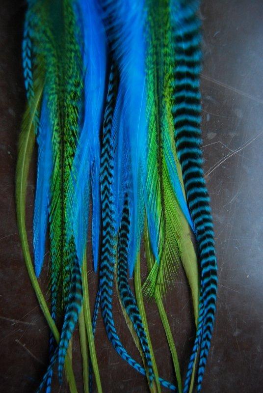 Neon Lights Feather earrings